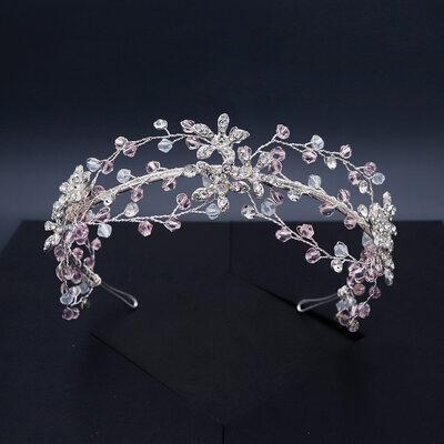 Damen Schöne Kristall/Strass/Legierung Tiaras mit Strass/Kristall (In Einem Stück Verkauft)