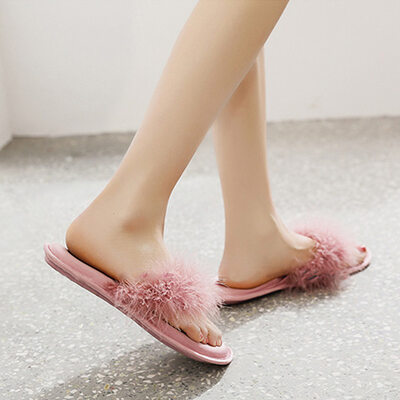 Bride Gifts - Delicate Graceful Satin Leather Slippers