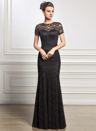 Trumpet/Mermaid Scoop Neck Floor-Length Lace Mother of the Bride Dress