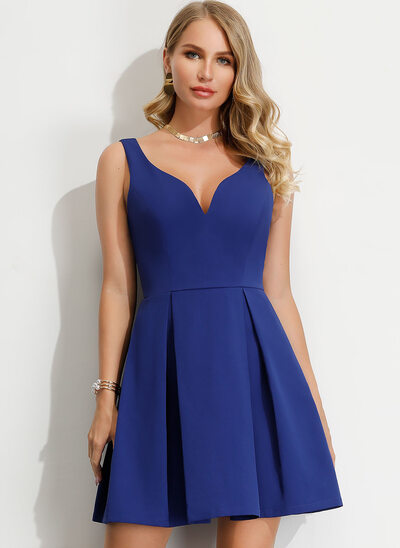 A-Line V-neck Short/Mini Homecoming Dress