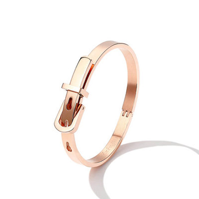 Personalized Ladies' Charming Rose Gold Plated Engraved Bracelets For Bride/For Bridesmaid/For Couple