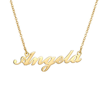Custom 18k Gold Plated Silver Name Necklace - Birthday Gifts Mother's Day Gifts