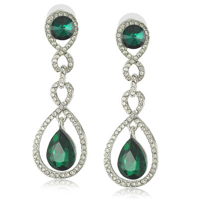 Attractive Alloy/Crystal With Rhinestone Ladies' Earrings