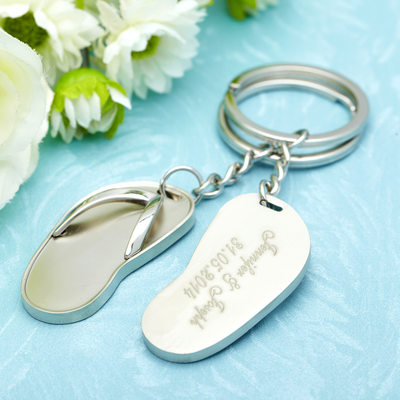 Groom Gifts - Personalized Modern Alloy Keychain (Set of 6)