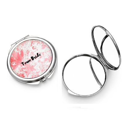 Bridesmaid Gifts - Personalized Special Simple Eye-catching Stainless Steel Compact Mirror