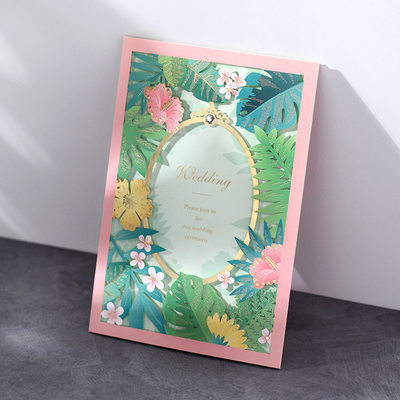Personalized Classic Style/Modern Style Tri-Fold Invitation Cards