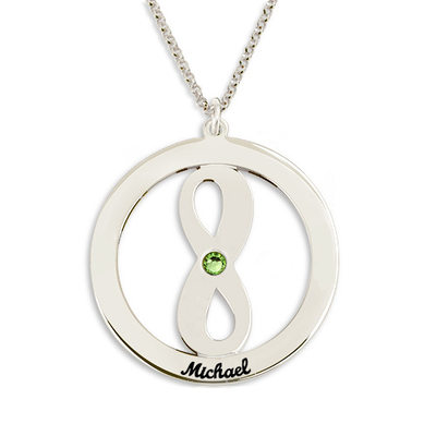 Personalized Ladies' Hottest With Round Cubic Zirconia Engraved Necklaces Necklaces For Couple