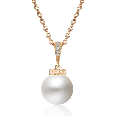Ladies' Classic Copper/Zircon/Imitation Pearls Necklaces