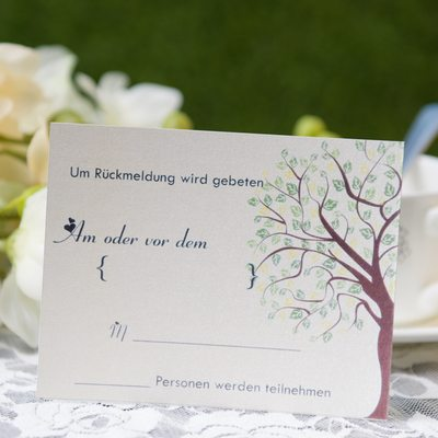 Personalized Modern Style Response Cards