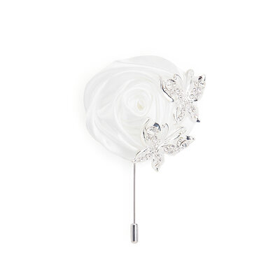 Classic Alloy Charmeuse Boutonniere