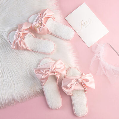 Bride Gifts - Delicate Graceful Charmeuse Slippers