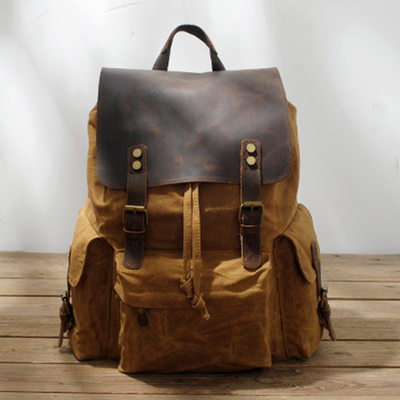 Groomsmen Gifts - Vintage Canvas Backpack