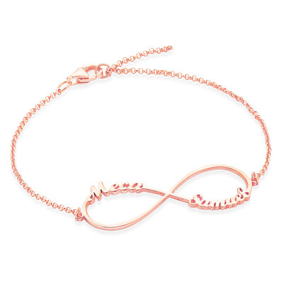[Free Shipping]Christmas Gifts For Her - Custom Sterling Silver Link & Chain Name Bracelets (106218395)
