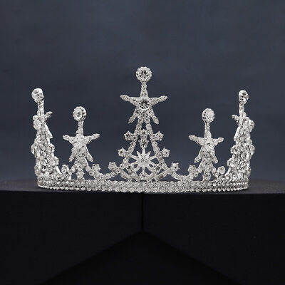 Ladies Gorgeous Rhinestone/Alloy Tiaras With Rhinestone/Crystal (Sold in single piece)