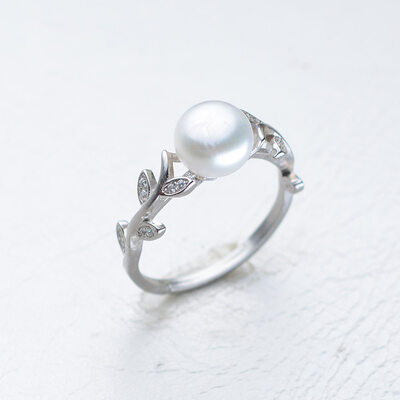 Ladies' Elegant 925 Sterling Silver Pearl/Cubic Zirconia Rings For Bride/For Bridesmaid/For Mother