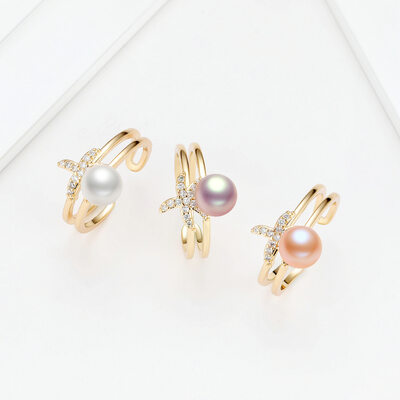 Ladies' Unique Pearl Rings
