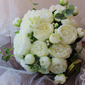 Classic Hand-tied Satin/Silk Flower Bridal Bouquets/Bridesmaid Bouquets (Sold in a single piece) - Bridal Bouquets/Bridesmaid Bouquets
