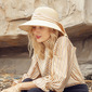 Ladies' Beautiful Cotton/Flax With Bowknot Bucket Hats