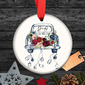 Bride Gifts - Personalized Lovely Delicate Double Sided Custom Ceramics Tag Ornaments