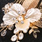 Elegant/Flower Shaped Rhinestone/Alloy/Imitation Pearls Combs & Barrettes (Sold in single piece)