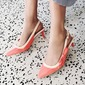 Women's Patent Leather Stiletto Heel Sandals Pumps Slingbacks With Buckle shoes