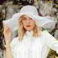 Ladies' Beautiful/Eye-catching Linen With Rhinestone Floppy Hats/Beach/Sun Hats/Kentucky Derby Hats