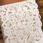 Personalized Side Fold Invitation Cards With Beads (Set of 50)