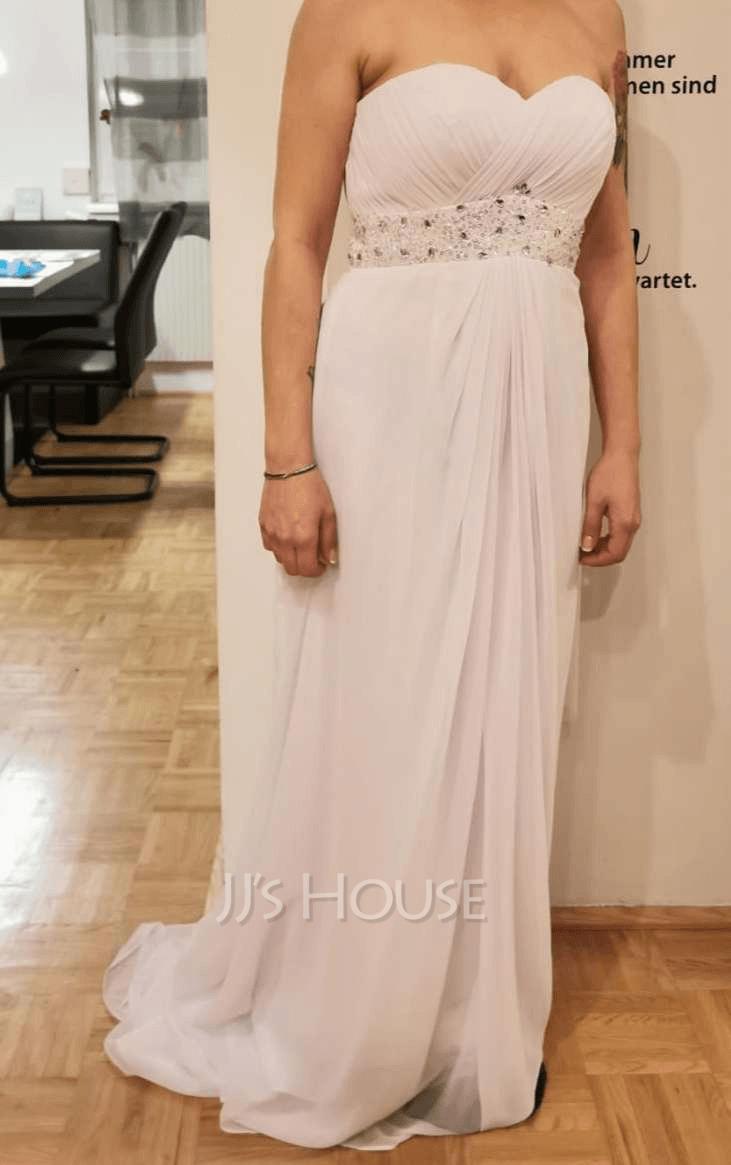 Corte imperial Novio Barrer/Cepillo tren Gasa Vestido de novia con Volantes Cuentas