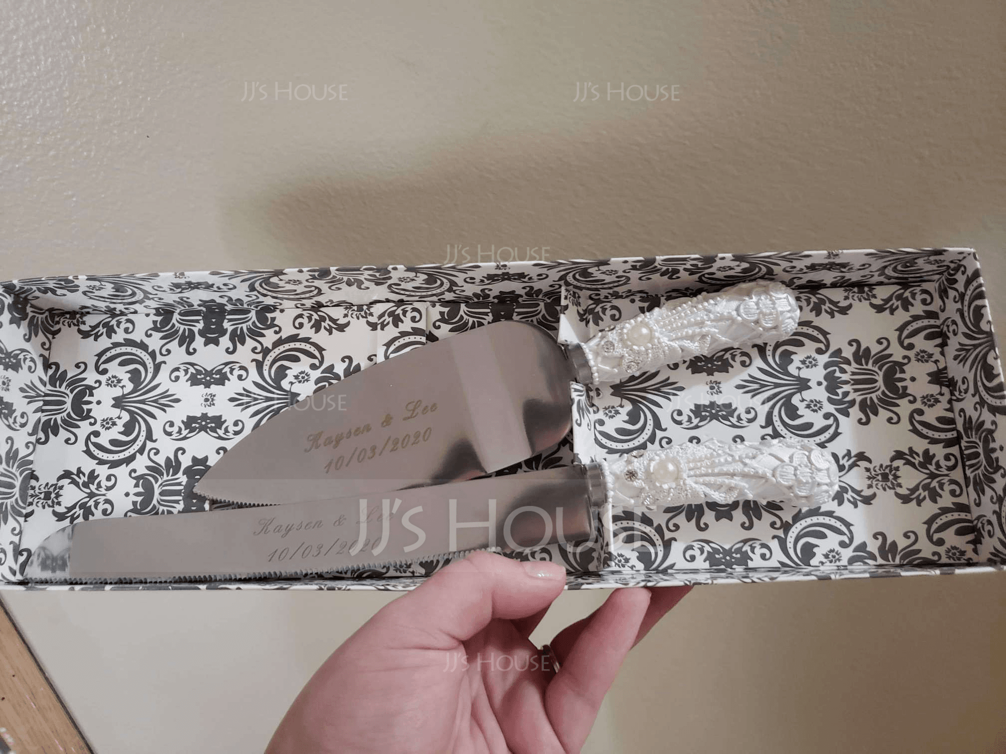 Personalized Elegant Stainless Steel/Resin Serving Sets