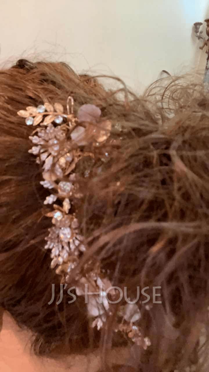 Ladies Beautiful Rhinestone/Alloy Hairpins With Rhinestone (Sold in single piece)