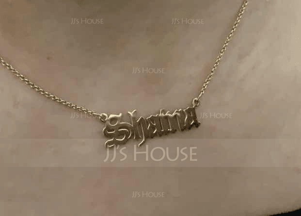 Custom 18k Gold Plated Old English Name Necklace - Birthday Gifts Mother's Day Gifts