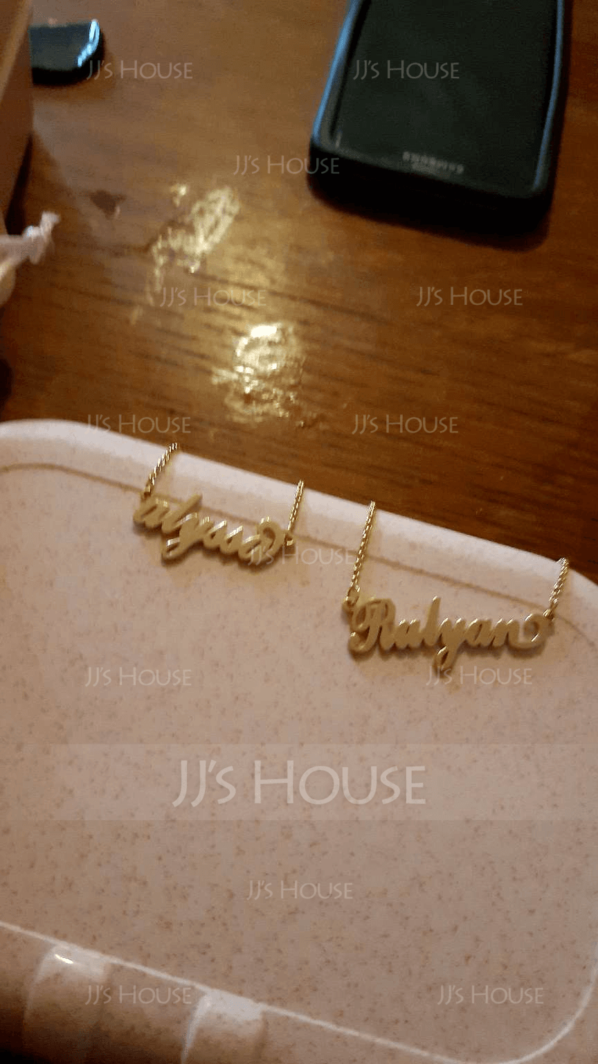 [Free Shipping]Custom 18k Gold Plated Carrie Name Necklace - Birthday Gifts Mother's Day Gifts