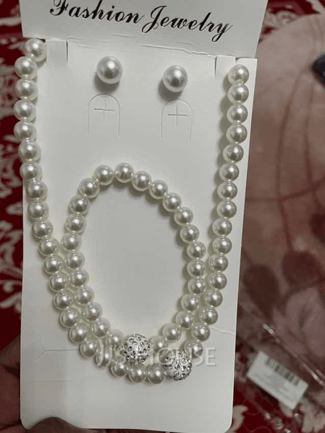 Gorgeous With Imitation Pearls Ladies' Jewelry Sets